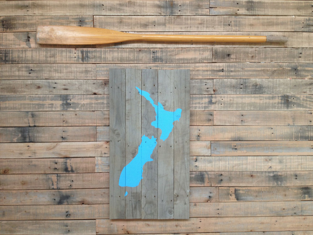 NZ map wall art hanging