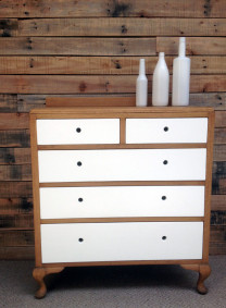 Designer solid oak drawers