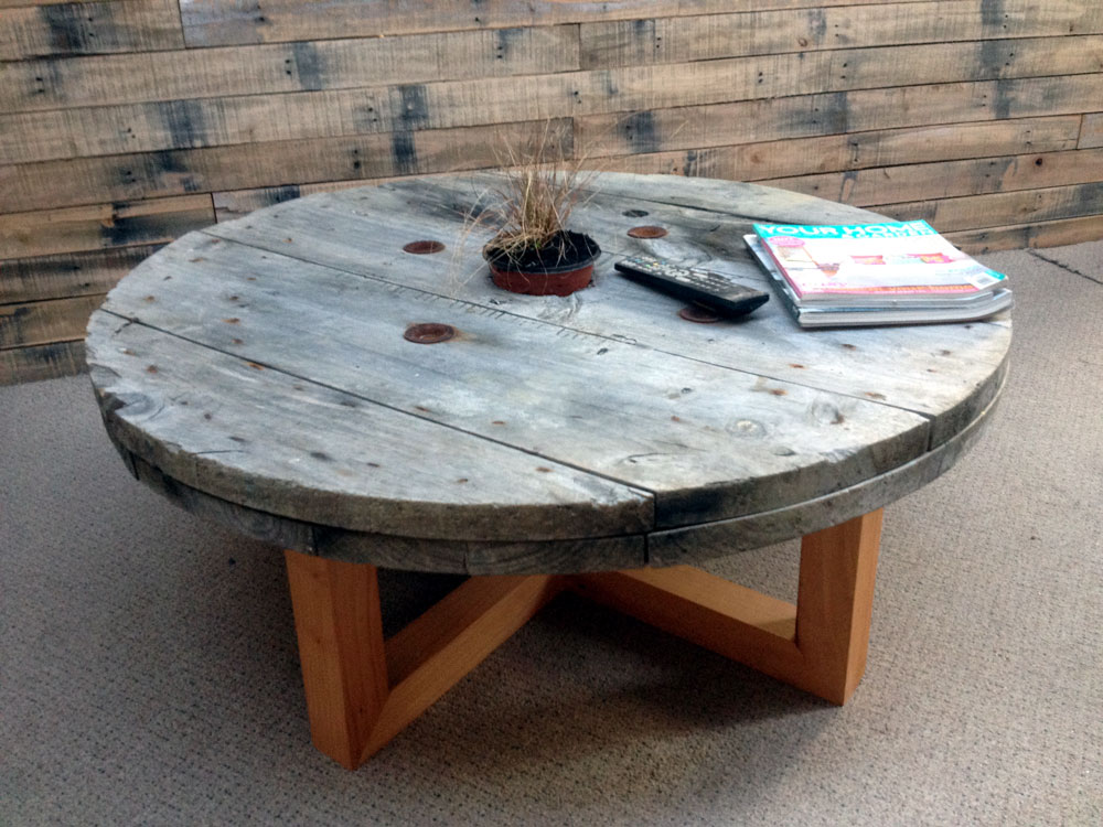 Cable Reel Coffee Table Sold To Enlarge Industrial Design Nz