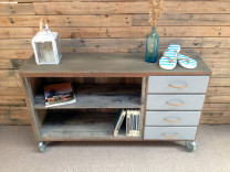 upcycled Beachy Cabinet