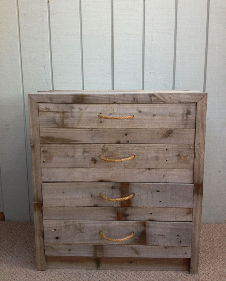 Rustic timber drawers