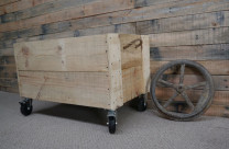 Wooden pallet storage crate