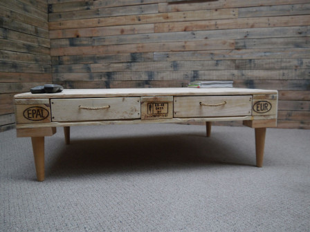 Retro modern pallet coffee table