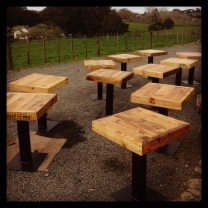 Made from reclaimed shipping pallets