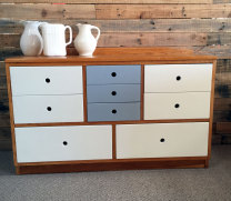 Oak drawers painted