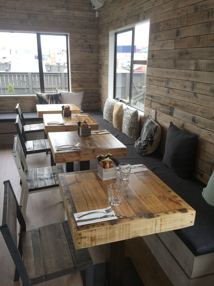 rustic cafe table nz